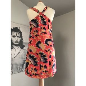 J. Crew Silk Hibiscus dress